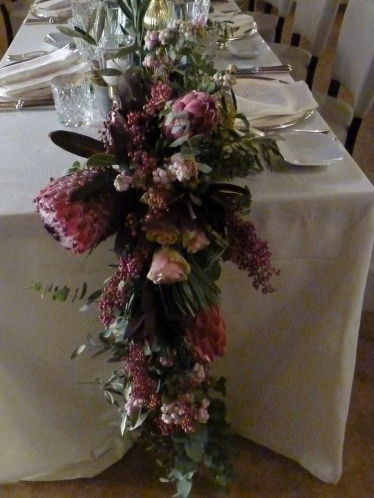Cordone con fiori rosa bordeaux (5)